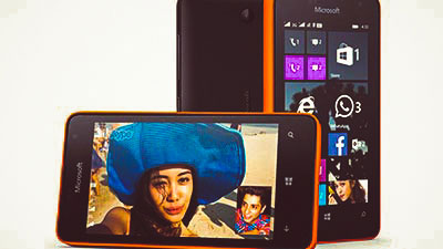 Смартфон Microsoft Lumia 430 Orange and Black